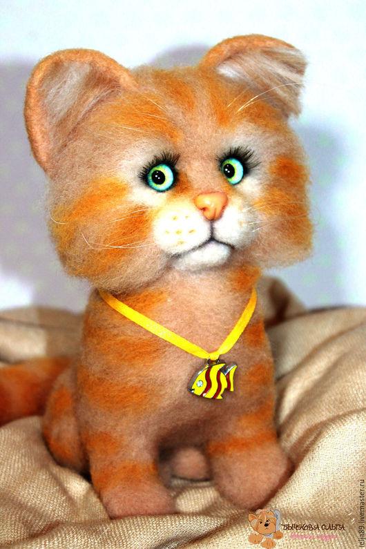 """Игрушки животные, ручной работы. Ярмарка Мастеров - ручная работа. Купить Кошечка """"Конопушка"""". Handmade. Комбинированный, котенок из шерсти"""