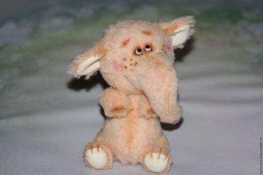 Мишки Тедди ручной работы. Ярмарка Мастеров - ручная работа. Купить Зефирная Слоняшка. Handmade. Бледно-розовый, тедди слон