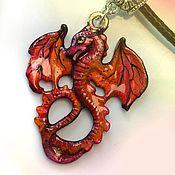 Украшения handmade. Livemaster - original item Auriel – dragon pendant (Element of Fire and Air) unusual gift to Dragons. Handmade.