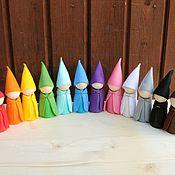 """Вальдорфские куклы и звери ручной работы. Ярмарка Мастеров - ручная работа """"Гномы в колпаках (8,5 см)"""" Деревянные развивающие игрушки. Handmade."""