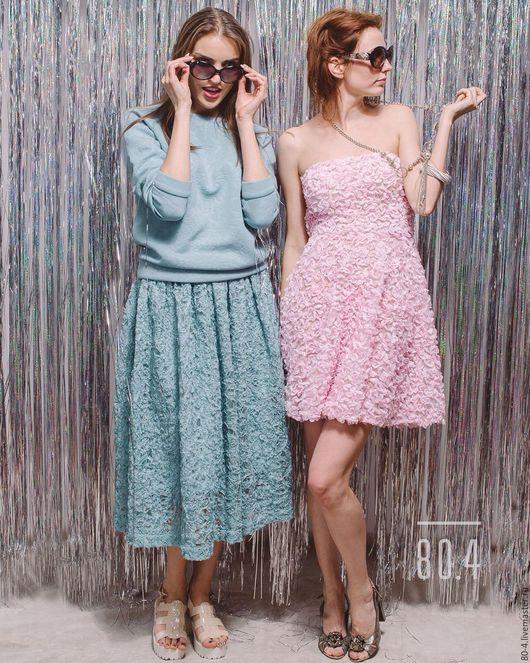"""Платья ручной работы. Ярмарка Мастеров - ручная работа. Купить Пышное розовое платье """"Бабочки"""". Handmade. Бледно-розовый"""