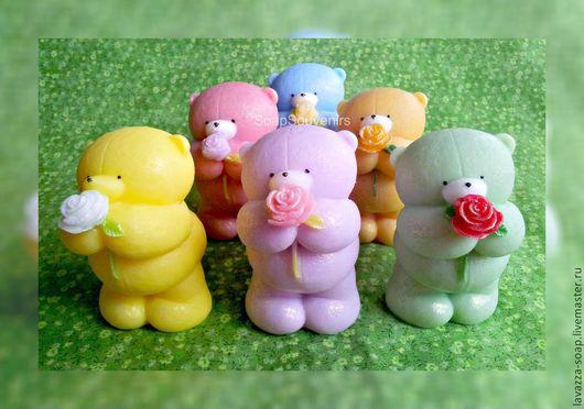 Мыло ручной работы. Ярмарка Мастеров - ручная работа. Купить Мыло Мишка с розой. Handmade. Мишка, подарок, сувениры и подарки