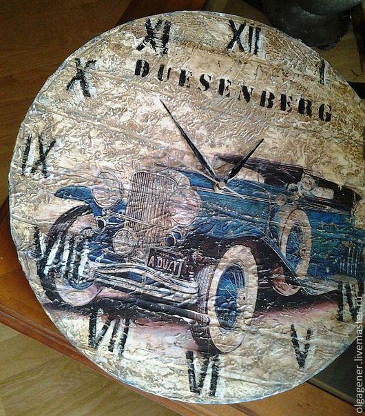 Часы для дома ручной работы. Ярмарка Мастеров - ручная работа. Купить Часы настенные большие двусторонние дизайнерские. Handmade. Часы