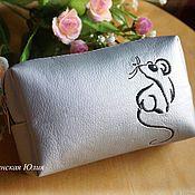 Косметички ручной работы. Ярмарка Мастеров - ручная работа Косметичка с мышкой. Handmade.