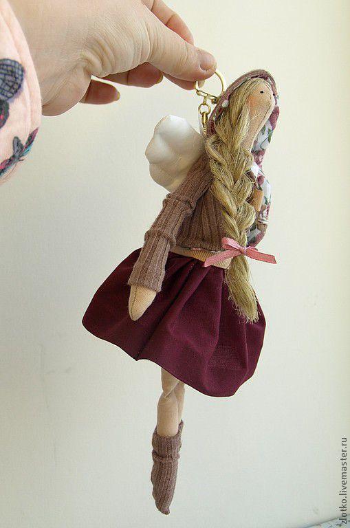 Куклы Тильды ручной работы. Ярмарка Мастеров - ручная работа. Купить Тильда Ангел-хранитель Брелочек. Handmade. кукла Тильда