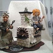 Куклы и пупсы ручной работы. Ярмарка Мастеров - ручная работа Баба Яга и домовёнок Кузя. Handmade.