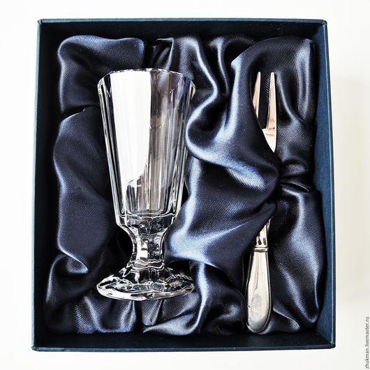 """Подарки для мужчин, ручной работы. Ярмарка Мастеров - ручная работа. Купить Набор """"ЭГОИСТ КЛАССИК ГРАНЕНЫЙ-50"""" (рюмка и закусочная вилка). Handmade."""