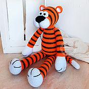 handmade. Livemaster - original item Tiger Edgar. knitted toy.. Handmade.