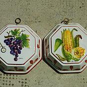 Винтаж ручной работы. Ярмарка Мастеров - ручная работа две винтажные декоративные керамические формы для выпечки. Handmade.