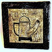 """Дизайн и реклама ручной работы. Ярмарка Мастеров - ручная работа Плитка  керамическая """"Чайник"""". Handmade."""