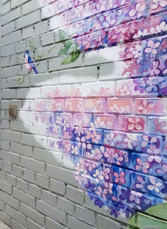 Роспись стен Сирень и Птицы, Картины, Красногорск,  Фото №1