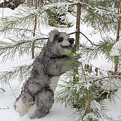 Куклы и игрушки ручной работы. Ярмарка Мастеров - ручная работа Серый медведь. Handmade.