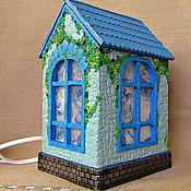 Для дома и интерьера handmade. Livemaster - original item Lamp Blue House handmade. decor polymer clay.. Handmade.