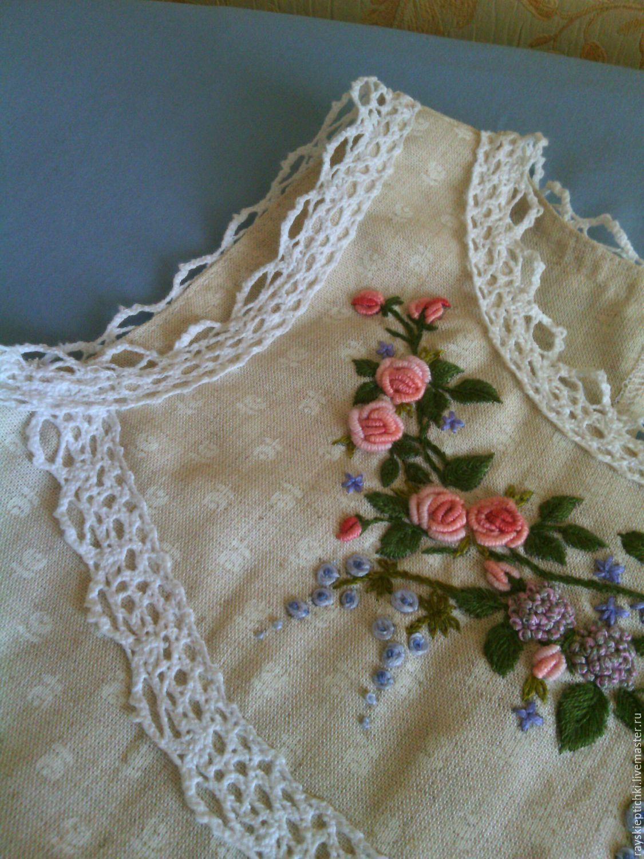 Вышивка рококо платья