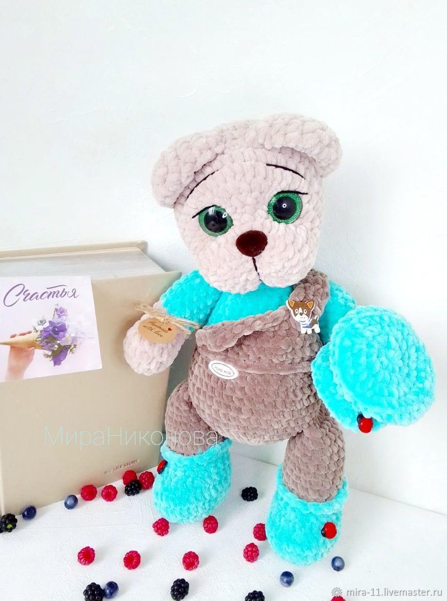 мишка в комбинезоне, плюшевый, Мягкие игрушки, Орел,  Фото №1