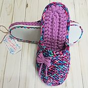 Обувь ручной работы handmade. Livemaster - original item Slippers on a rubber sole with a closed toe 38p. Handmade.
