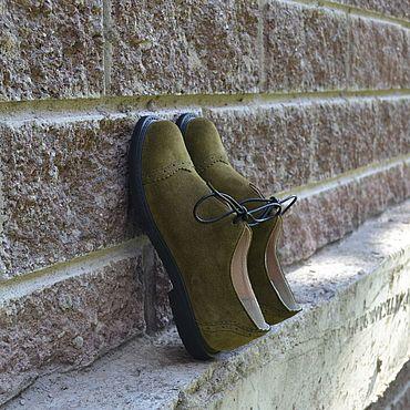 Обувь ручной работы. Ярмарка Мастеров - ручная работа Туфельки женские замшевые. Handmade.