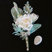 Свадебный салон ручной работы. Ярмарка Мастеров - ручная работа бутоньерка Очарование розы. Handmade.
