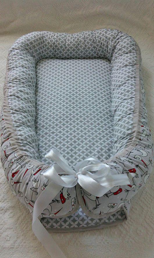 Для новорожденных, ручной работы. Ярмарка Мастеров - ручная работа. Купить Кокон-гнездышко для новорожденного babynest. Handmade. Babynest