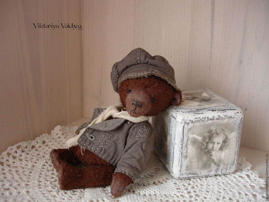 Мишки Тедди ручной работы. Ярмарка Мастеров - ручная работа. Купить Мишутка тедди Патрик. Handmade. Коричневый, медвежонок тедди