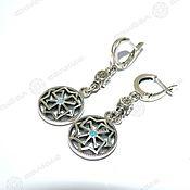 Русский стиль handmade. Livemaster - original item Earrings Solvency (pendant). Handmade.