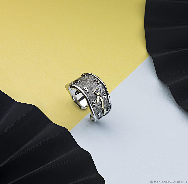 Кольцо серебряное Сальвадора Дали Постоянство Памяти, Кольца, Москва,  Фото №1