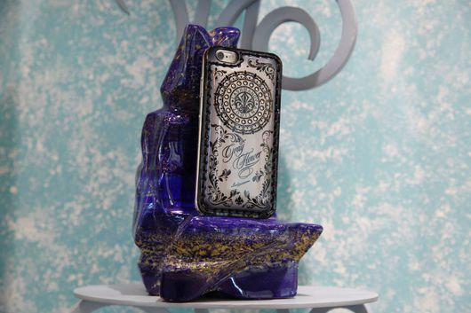 Для телефонов ручной работы. Ярмарка Мастеров - ручная работа. Купить Чехол для  iPhone 7/  plus -/5/5s/se/ -6/6s/6 plus Gray Flower. Handmade.