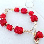 Украшения handmade. Livemaster - original item Coral bracelet. Handmade.