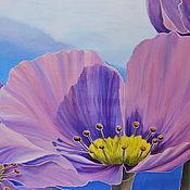 Картины и панно ручной работы. Ярмарка Мастеров - ручная работа Лиловые цветы.. Handmade.