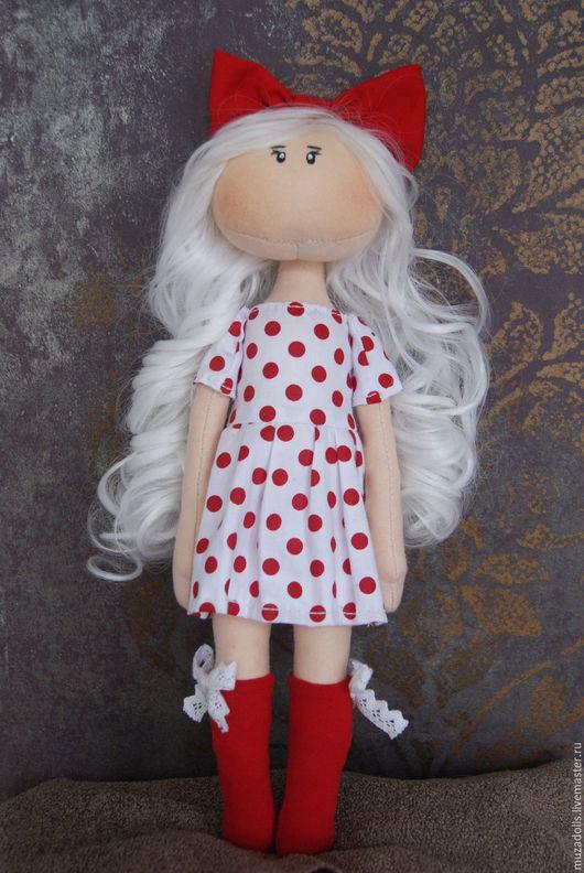 Коллекционные куклы ручной работы. Ярмарка Мастеров - ручная работа. Купить Интерьерная кукла ручной работы. Handmade. Ярко-красный