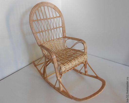 """Мебель ручной работы. Ярмарка Мастеров - ручная работа. Купить Кресло качалка """"Радуга"""", с подножкой, плетеное из лозы. Handmade."""