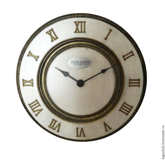 Часы для дома ручной работы. Ярмарка Мастеров - ручная работа. Купить Настенные часы. Белый бук. Старое золото. Раз.. Handmade.