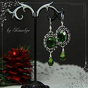 Украшения handmade. Livemaster - original item Earrings with peridot (chrysolite)