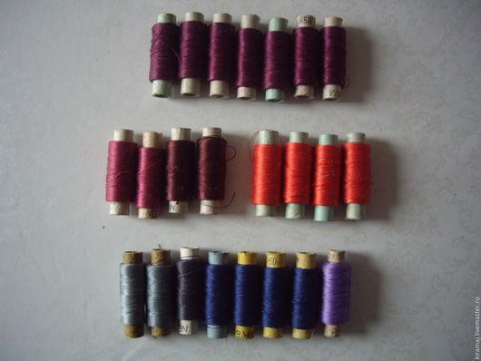 Вышивка ручной работы. Ярмарка Мастеров - ручная работа. Купить Шелковые нитки №33 без вискозы (50). Handmade. Белый