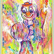 Картины и панно ручной работы. Ярмарка Мастеров - ручная работа Счастливый Клоун. Handmade.