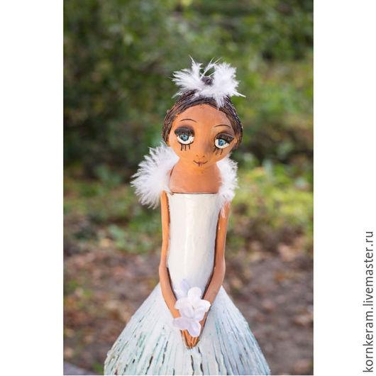 """Статуэтки ручной работы. Ярмарка Мастеров - ручная работа. Купить """"Жизель"""". Handmade. Белый, танец, интерьерная кукла, цветные глазури"""