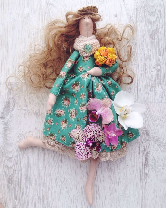 Куклы Тильды ручной работы. Ярмарка Мастеров - ручная работа. Купить Весенняя Тильда. Текстильная кукла. Handmade. Тильда