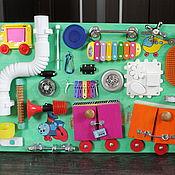 """Куклы и игрушки ручной работы. Ярмарка Мастеров - ручная работа Бизиборд """"Паровозик"""". Handmade."""