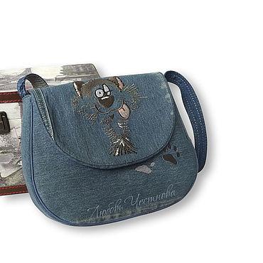 Bags and accessories handmade. Livemaster - original item Copy of Copy of Denim bag Geometry. Handmade.