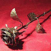 "Цветы и флористика handmade. Livemaster - original item Copy of Forged rose ""Living metal"". Handmade."