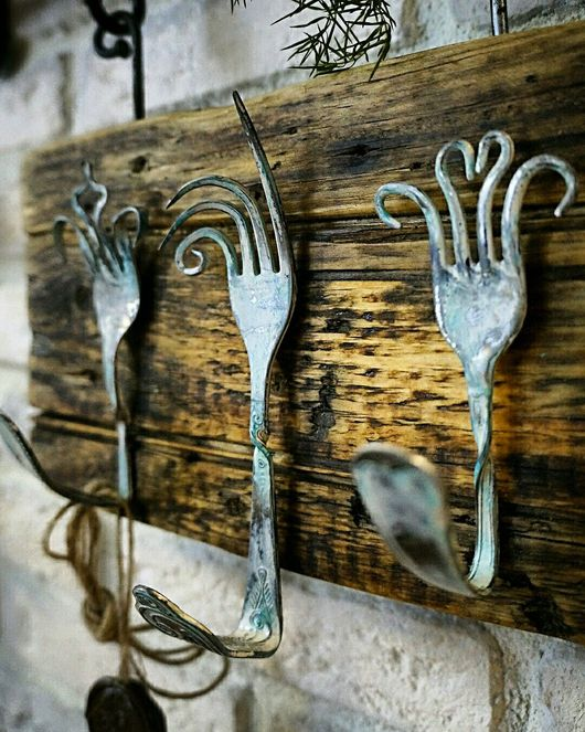 """Кухня ручной работы. Ярмарка Мастеров - ручная работа. Купить Вешалка для кухни """"Вилки"""". Handmade. Вешалка на кухню, вилки, винтаж"""