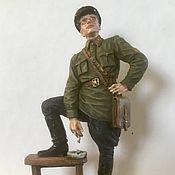 Куклы и игрушки handmade. Livemaster - original item Military miniature 54 mm. Handmade.