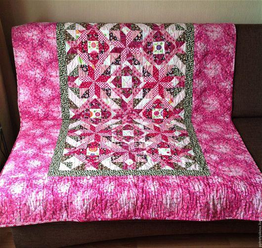Текстиль, ковры ручной работы. Ярмарка Мастеров - ручная работа. Купить Лоскутное одеяло Розовая деревня. Handmade. Лоскутное одеяло