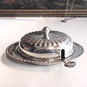 Винтаж handmade. Livemaster - original item Oiler pastateca vase caviar with spoon silver plated. Handmade.