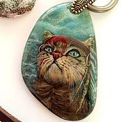 Украшения handmade. Livemaster - original item Carambas – fantasy ornament miniature on the stone (original painting). Handmade.