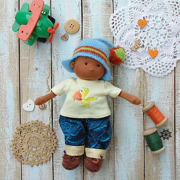 Куклы и игрушки ручной работы. Ярмарка Мастеров - ручная работа Вовка  вальдорфская кукла 23 см. Handmade.