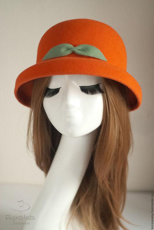 Шляпы ручной работы. Ярмарка Мастеров - ручная работа. Купить SALE! Мандариновый клош. Handmade. Шляпка, купить шляпу, рыжий