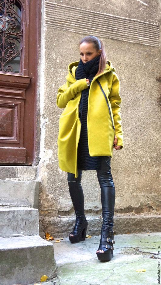 пальто из шерсти кашемировое пальто теплое пальто зимнее пальто стильное пальто на подкладе дизайнерское пальто яркое