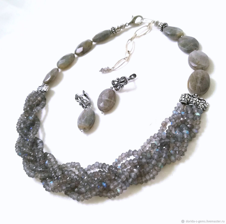 necklace, designer necklace, necklace for every day, elegant, choker, necklace of labradorite necklace, labradorite necklace, necklace for gift, beads of labradorite, labradorite necklace, grey neckla