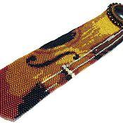 """Аксессуары ручной работы. Ярмарка Мастеров - ручная работа Галстук """"Мелодия забытой скрипки"""". Handmade."""